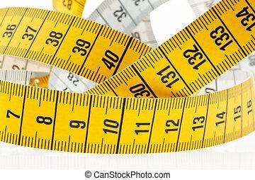 測定, バックグラウンド。, 白いテープ