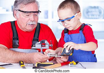測定, ボルト, 孫, 祖父