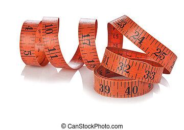 測定, 仕立屋, テープ, 隔離された