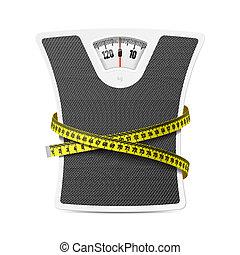 測定, 体重計, テープ