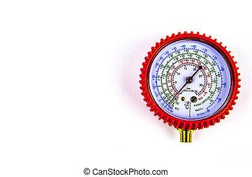 測定, 修理, 圧力計, ガス, refrigerators., 圧力