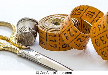 測定, 裁縫, テープ