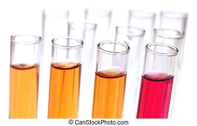 測試, 化學制品, 管子