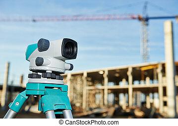 測量技師, 建築現場, 装置