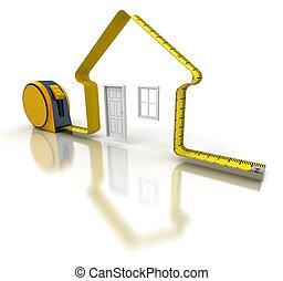 測量, 房子