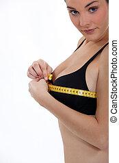 測量, 胸膛, 婦女