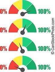 測量, 規定值, 集合, 圖象,  infographic, 量規, 米, 簽署, 里程計, 或者, 元素