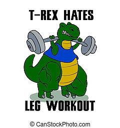測驗, t-rex, hates, 腿