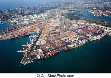 港口, 非洲, 德班, 南方