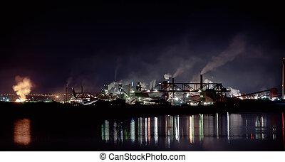 港, 発煙, 製鉄所