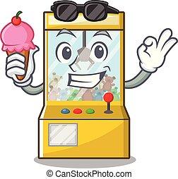 游戏, 起重机, 形状, 性格, 冰淇淋, 卡通漫画