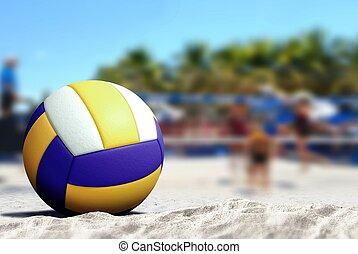 游戲, 海灘排球運動, 沙