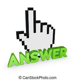游標, 以及, 詞, answer.