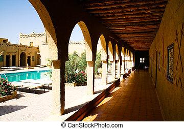 游泳池, 在, 摩洛哥, 旅馆