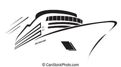 游艇, 符號, 矢量, 插圖