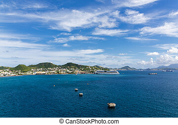 游覽班船, 靠碼頭, 橫跨, 海灣