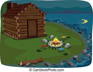 湖畔, キャビン