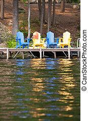 湖边, 座位