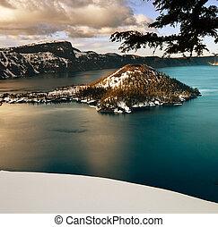 湖, 噴火口