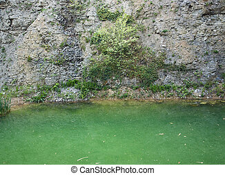 湖, 在, a, 碎石, 采石場