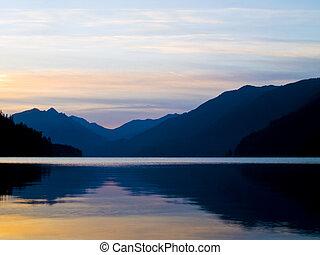 湖, 日出