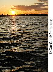 湖, 日没