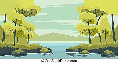 湖, 秋風景