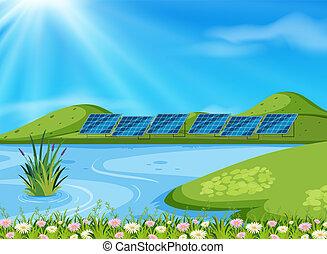 湖, 風景, 自然