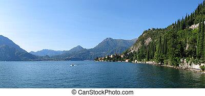 湖, como., italy
