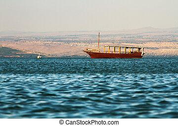 湖, kineret, イスラエル