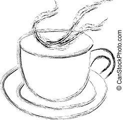 湯気をたてる, チャコーヒーノキ, ∥あるいは∥, カップ