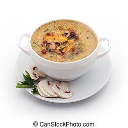 湯, 蘑菇