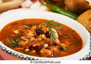 湯, 豆, 腎