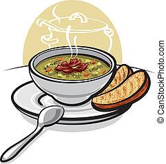 湯, 豌豆
