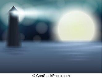 満月, テンプレート, 夜