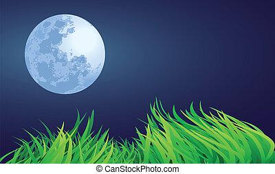 満月, 夜