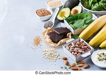 源, 健康, 高く, 食物, マグネシウム, 各種組み合わせ
