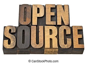 源, 概念, -, 開いた, ソフトウェア