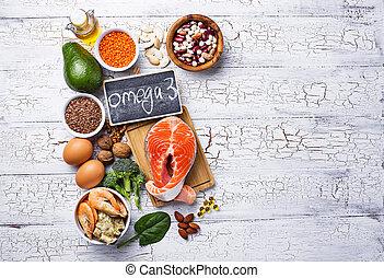 源, 酸, プロダクト, omega-3