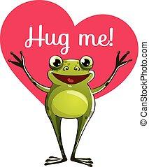 準備ができた, カエル, 抱き合う, 漫画