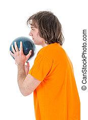 準備ができた, ボール, 投球, 男ボウリング