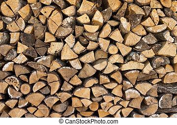 準備ができた, 木材を伐採する, 冬, 木杭