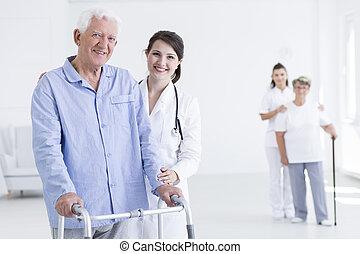 準備ができた, always, 患者, 私, 助け