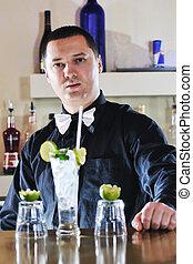 準備しなさい, プロ, 飲みなさい, barman, coctail, パーティー