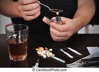 準備, 藥物