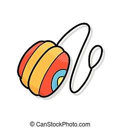 溜溜球, 心不在焉地亂寫亂畫