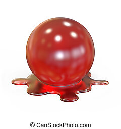 溶けること, 赤, 球