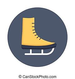 滑冰, 鞋子, 颜色, 环绕, glyphs, 图标