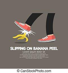 滑落, 矢量, 香蕉剥皮