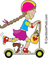 滑行車, 孩子